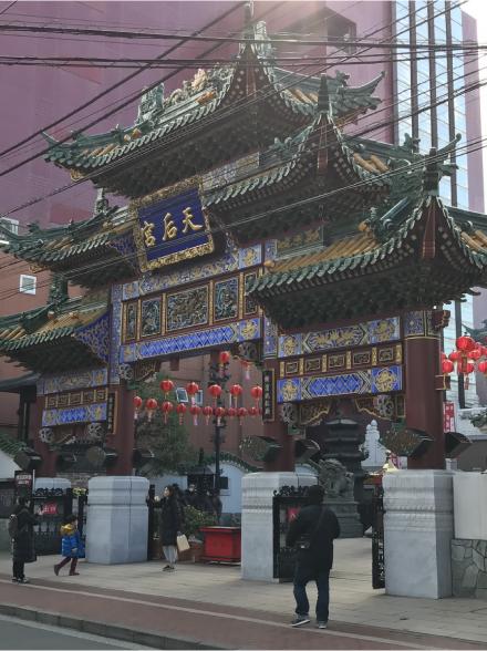 横浜中華街媽祖廟楼門